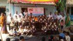 Solar lamp distribution @ Pandarwal, Haliyal, North Kanara