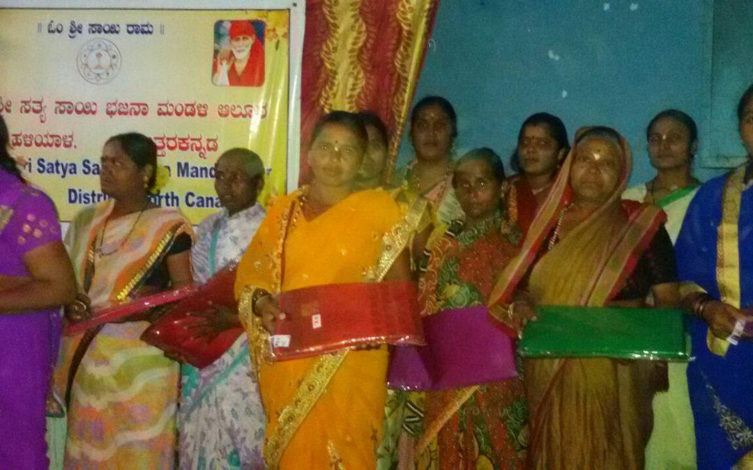 Saree Distribution to needy Devotees @ Haliyal, North Kanara