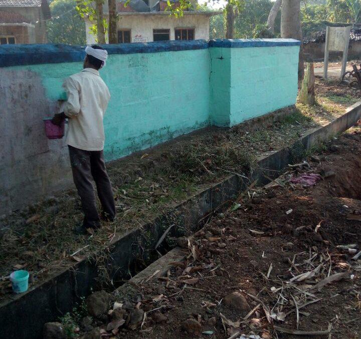 Compound Painting @SSSVJ, Neelavani, Haliyal, North Kanara