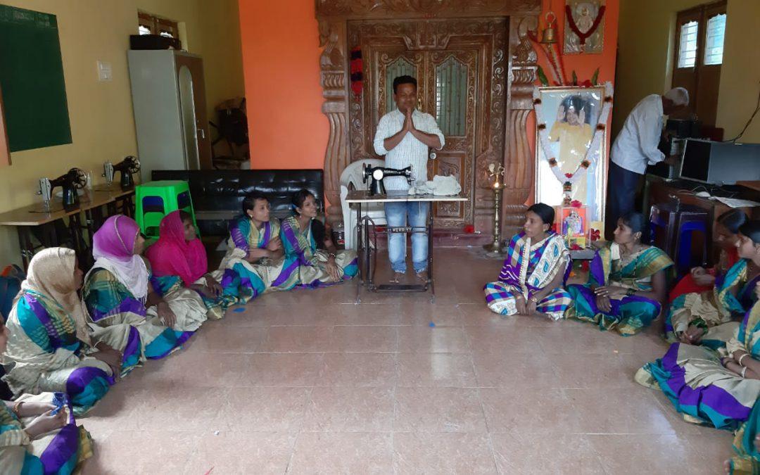 Vocational Training Class @SSSVJ, Neelavani, Haliyal, Uttara Kannada