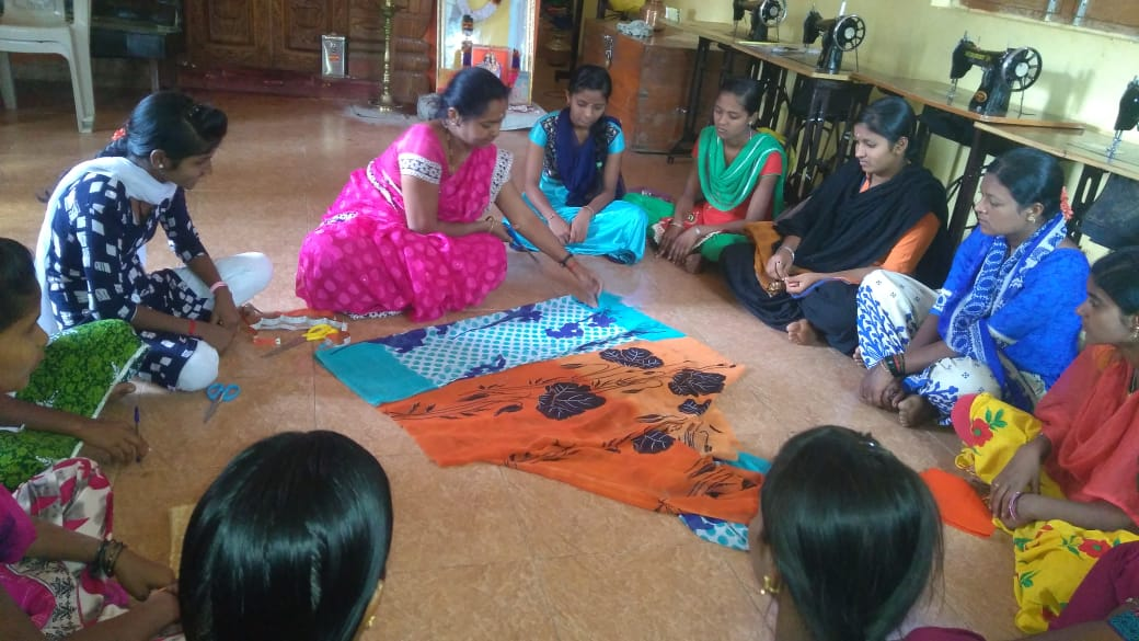Vocational Training @SSSVJ Neelavani, Haliyal, Uttara Kannada