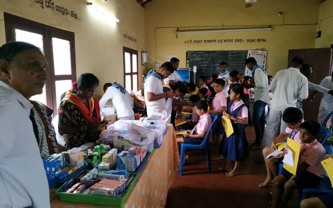 6th Medical Camp by SSSD&GMC @SSSKP School Areangadi,Honnavar, Uttara Kannada