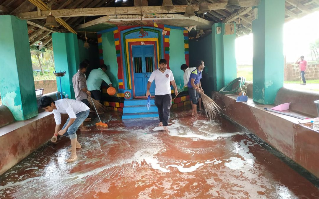 Cleaning In Flood Affected Area @Hankon, Karwar, Uttara Kannada