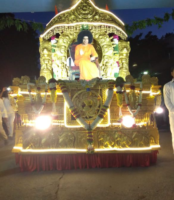 Chariot reaches Puttaparthi