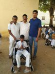 Wheel chair to Orphan school